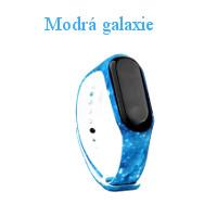 motiv modrá galaxie